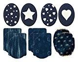 Mono-quick 307 altima lot de 14 pièces, fleurs, rayures et étoiles, coeurs, 9,5 x 11,5 cm