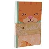 Motif adorable chaton roux-Cahier-Ligné-A6