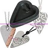 Moule Pendentif en caoutchouc flexible pour béton ou résine, Forme Coeur 2,7x3,9cm, remplissage 5 mm
