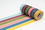 MT Masking Tape MT06P003Z Japonais Tradition Wamon 3 Bande Adhésive Couleurs Assorties 1000 x 1,5 x 0,01 cm Lot de ...