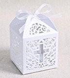 Musuntas 50pièces. Cage à oiseaux de projet de mariage baptême dragées Box Boîtes boîte Décoration de table BONBON Bonbonnière boîte ...