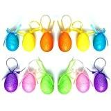 My Planet 12 grands œufs de Pâques à paillettes à suspendre Cadeau Décoration Accessoires
