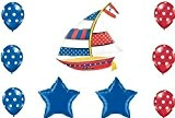 Nautical Sailboat Party Balloon Decoration by Nautical Party Supplies