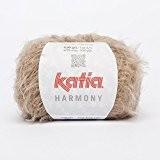 Neuf. 50g Katia Harmony-Superbe, doux fil à franges avec Part laine vierge-Couleur 63Marron clair