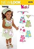 New Look 6578 Patron de couture pour robes d'enfant (1/2,1,2,3,4)