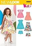 New Look Patron de couture pour robes de tailles enfant 6884: 3 4 5 6 7 8