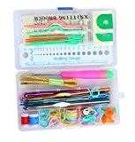 niceEshop(TM) Kit D'outils Portables pour Couture et Tricotage avec Une Boîte (Couleur Aléatoire)