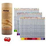 NIUTOP 72 couleur Premier souple de base Art Colored crayons à dessin Art Drawing crayons pour l'artiste Sketch Artiste Sketch ...