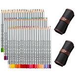 NIUTOP 72 Couleurs Crayons de Couleur Fournitures Crayons d'art Marco Raffine Serti de Toile Roll Up Sac de Crayon pour ...