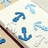 Ology(R)- 50pcs mini boat en bois Anchor Spear Pendentif accessoires artisanaux boutons principaux de Scrapbooking