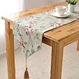 OLQMY-Décoration de table,Drapeau de table pastorale, coton et coton lin country américain lit drapeau, toile épaisse double frais tableau en ...