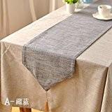 OLQMY-Décoration de table,Drapeau japonais table lin clair, couleur simple simple table basse armoire drapeaux, pendentif double lit double lit et ...