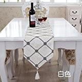 OLQMY-Décoration de table,Lit simple moderne drapeaux, broderie en trois dimensions table, table basse tissu, nappes de luxe européennes et lit,A,28 ...