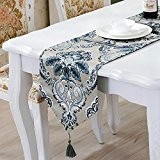 OLQMY-Décoration de table,Luxe européen table drapeaux, nappes occidentale de la haute qualité de tissu broderie, table basse, tapis de table ...