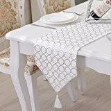 OLQMY-Décoration de table,Mode chiffon table drapeaux, tissu de table moderne, drapeau de table de luxe européen, lit, tapis chinois café ...