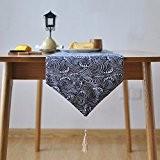OLQMY-Décoration de table,Style japonais coton et lin tableau drapeaux, drapeau du cabinet, queue lit et tissu déco simple gland moderne,Place,30 ...