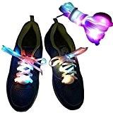 Onlylove en nylon lacets lacets Light Up LED avec 10 LED Lampe perles, plus lumineux et plus doux que les ...