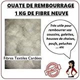 Ouate de rembourrage siliconée Douce et Gonflante sac de 1 kg véritable fibres textiles cardées