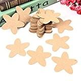 OULII Étiquettes à cadeaux papier Kraft - 50pcs FENICAL Star Kraft Paper Tags mariage cadeau fête Label artisanat BRICOLAGE cartes ...