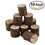 OULII Mariage lieu porte-cartes en bois Table nombre de Stands pour les décorations pour la maison Party Pack de 10