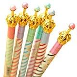 oyedens Lot de 6/Couronne de stylos à bille Stylo à bille bleu kawaii Stationery Office Matière Fourniture Scolaire