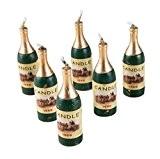 P'TIT CLOWN 80018 Bougie Bouteille de Champagne - Blister de 6 - Multicolore