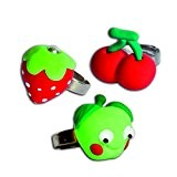 Padaboo PMZ602 Kit de pâte à modeler 3 Bagues Fruits  Vert/Rouge 8  x  10,5  x  ...