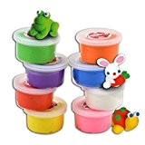 Padaboo PMZ805 Assortiment de 8 pots Pâte à modeler Multicolore 28  x  18  x  4 cm