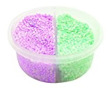 Padaboo PZP07 Pot de pâte à modeler Vert/Violet 8,5 x 8,5 x 4 cm