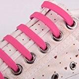Paire Lacets de Chaussures Enfants en Silicone Elastique sans Laçage - Rose, taille unique