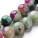Pandahall-Brun(environ 66Pcs/Brun) de Perle en Jade Naturel Couleur Coloree Diametre: 6mm Trou:1mm 16""