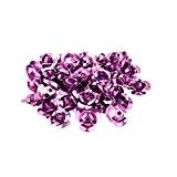 PandaHall - Lot de 100 Perles Fleur Rose en Aluminium Couleur Mauve 10x6.5mm