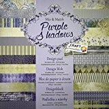 Papier cartonné pour Scrapbooking 24 feuilles 30 x 30 cm (Purple Shadows)