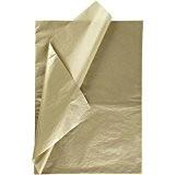 Papier de soie, feuille 50x 70cm, 14g, doré, 25blatt