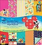 Papier recto-verso spécialisés Disney Pad 12 « X 12 » 24 feuilles-Mickey Family