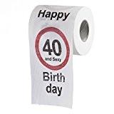 Papier toilette fun humoristique d'anniversaire, objet cadeau anniversaire 40 ans