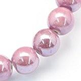 Paquet 20 x Rose Porcelaine 10mm Perles Nacré Rond - (HA27210) - Charming Beads