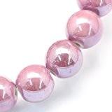 Paquet 20 x Rose Porcelaine 6mm Perles Nacré Rond - (HA27375) - Charming Beads