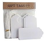 Paquet de 50 Pack étiquettes Noel blanc fils 4 x 7 étiquette prix festonnées