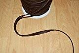 Passepoil en simili cuir marron souple, belle qualité (au mètre)