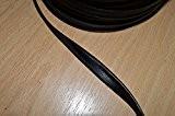 Passepoil en simili cuir noir souple, belle qualité (au mètre)