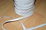Passepoil satin blanc, de belle qualité (au mètre)