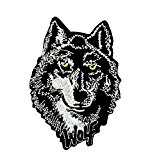 Patch ecusson brodé wolf loup no club biker thermocollant moto