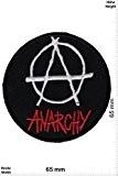 Patches - Anarchy - round - Punks - No Nazi - Punks - Anarchy- Applique embroidery Écusson brodé Costume Cadeau ...