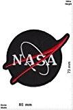 Patches - Nasa - black silver- round - Aéronautique et espace - Nasa - Nasa- Iron on Patch - Applique ...