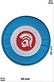 Patches - Trojan Records - blue - Independent-Label - Punks - No Nazi - Trojan- Applique embroidery Écusson brodé Costume ...