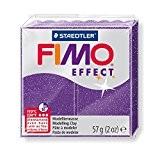Pâte Fimo Effect 57gr Lilas pailleté (n°602)