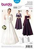 Patron de couture Burda 6710 pour femme Grande taille robes et Boléro de mariage et Demoiselle d'Honneur Fascicule Minerva Crafts ...
