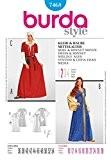 Patron de couture Burda 7468 Femme-Déguisement-Costume-& Damsel tailles :  10-28 CAPOT