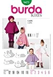 Patron de couture Burda Children's 9475-pèlerines :  2-6 ans